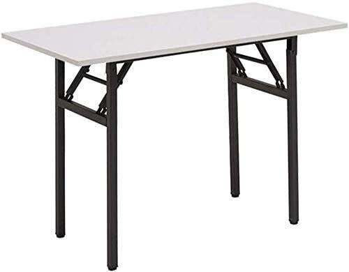Leilims Las mesas de Ordenador de Escritorio Plegable Resistente Heavy Duty escritorios del Ordenador portátil de Costura no se Requiere ensamblaje Multifuncional (Color : White)