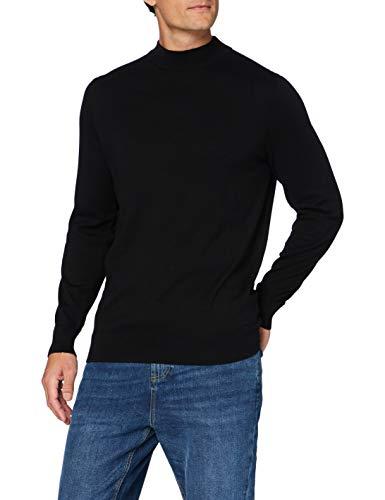 Amazon-Marke: MERAKI Herren pullover herren C16-042m, Schwarz (Black), XL, Label: XL