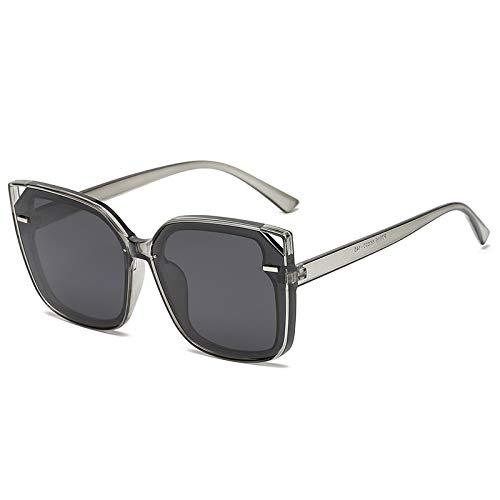 HFSKJ Gafas de Sol, Gafas de Sol polarizadas Conducir y Conducir Gafas protección UV Las Gafas de uñas de arroz Retro de Moda Son adecuadas para Hombres y Mujeres,F