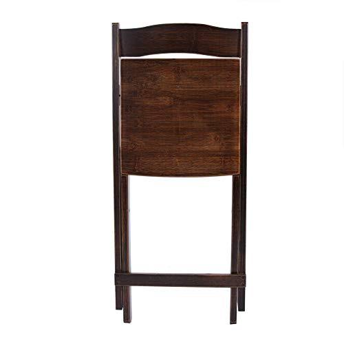 Salaty Küchenstuhl, Bambusmaterial Bambusstuhl, klappbarer Rückenstuhl 15,7 * 15,4 * 31,5 Zoll für zu Hause Schlafzimmerstuhl Gartenbalkonstuhl