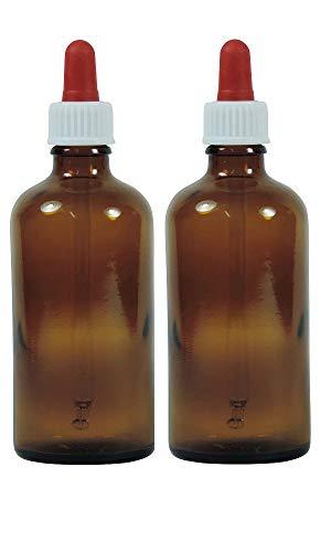 Viva-Haushaltswaren–10 frascos cuentagotas de Vidrio, para Farmacia, Color marrón, Vidrio, marrón, 50 ml