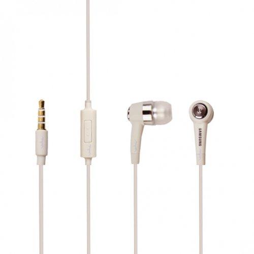 Original Samsung Headset EHS44 in Weiß für Samsung Galaxy S8 Plus+ Duos SM-G955F InEar In-Ear Kopfhörer Ohrhörer 3,5mm Stecker Stereo Sound Bulk verpackt + gratis Bildschirm Reinigungspad