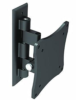 Black Full-Motion Tilt/Swivel Wall Mount Bracket for ViewSonic VA Series VA2446m-LED 24  inch LED Monitor - Articulating/Tilting/Swiveling