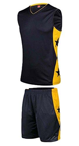 East Majik Vêtements Basketball Basketball Tenues Sport Suits - Bleu foncé/Jaune