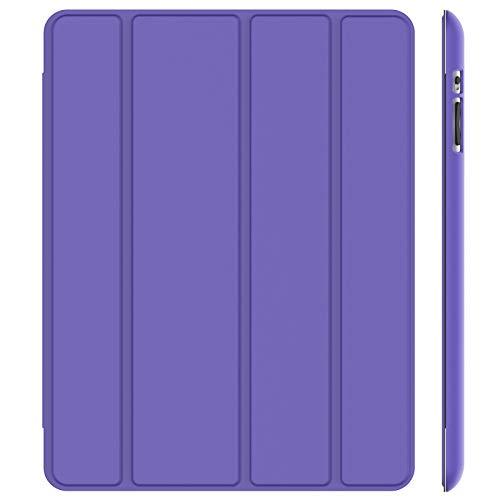 JETech Hülle Kompatibel iPad 4, iPad 3 & iPad 2, Schutzhülle mit Ständer Funktion & Auto Schlaf/Wachen, Lila