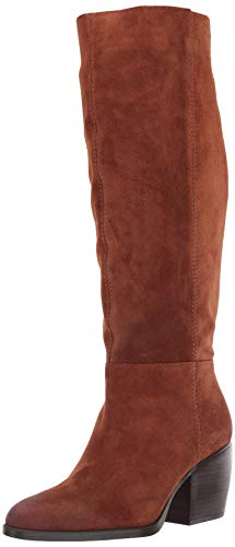 Naturalizer Women's FAE Shaft Knee High Boot, Saddle Tan Suede, 8.5 Wide