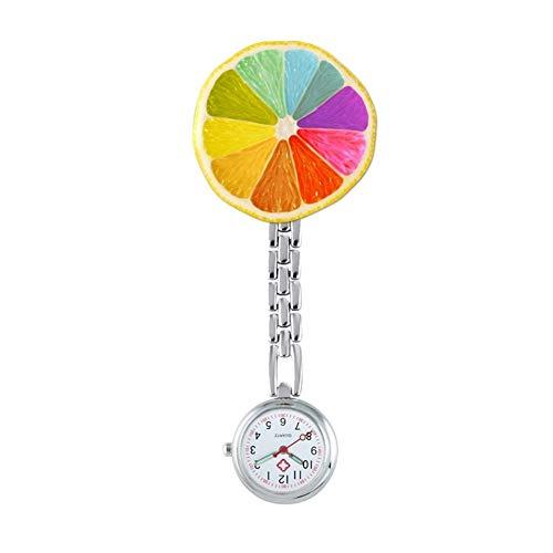 FGMGFTG Reloj de Broche Duradero Reloj de diseño de Metal Enfermera de Dibujos Animados Broche de Relojes Bolsillo de la Solapa del Reloj del Clip del Regalo Enfermero Doctor Paramédico Médico