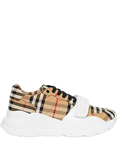 BURBERRY Fashion Womens 8020281 Beige Sneakers |