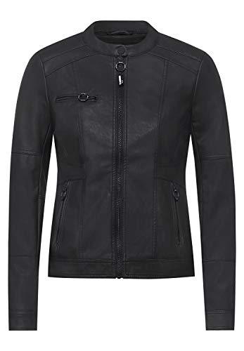 Cecil Damen Kunstleder-Jacke aus PU Black M