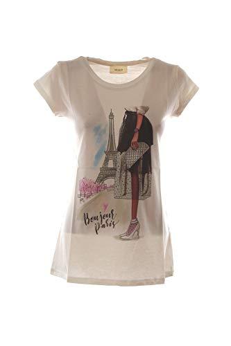 VICOLO T-Shirt Donna Bianco Rk0809 1/20 Primavera Estate 2020