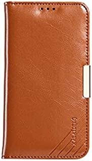 Genuine leather case for SAMSUNG Galaxy S6 edge plus flip cover men wallet stand sleeve SXP72 brown