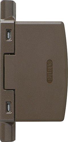 ABUS Scharnierseitensicherung FAS97 - Fenster-Zusatzschloss für die Scharnierseite - ABUS-Sicherheitslevel 10 - 11780 - Braun