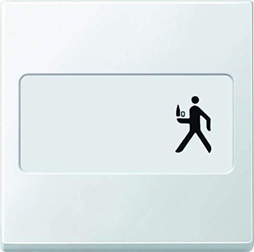 Merten 433319 Wippe mit Schriftfeld, polarweiß, System M
