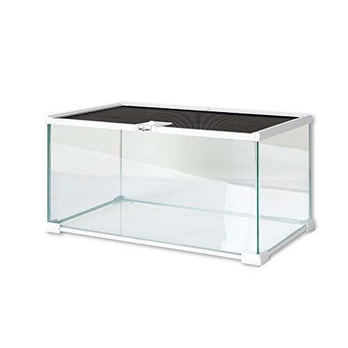 Pet Supplies Jaula de cristal, diseño de espacio grande, apto para hámster,...