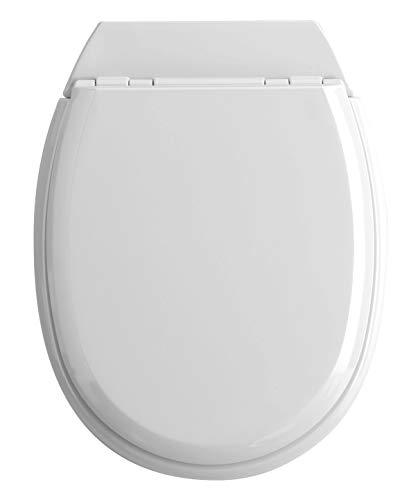 Allibert 819878 Abattant WC, Blanc Brillant, 37cm x 5.1cm x 48.1cm