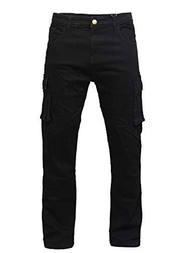 GBG Motorrad Schutzweste Fracht Hosen Hosen Jeans Mit Schutz Verkleidung, Schwarz, 38W / 31L