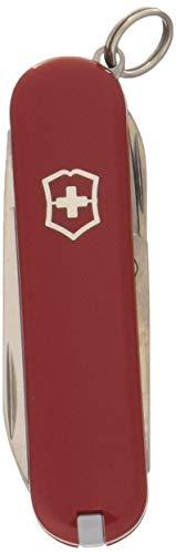 Victorinox Taschenmesser Classic (7 Funktionen, Schere, Nagelfeile mit Nagelreiniger) rot B1