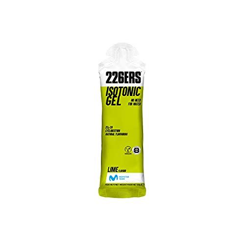226ERS Isotonic Gel | Gel Isotónico con Ciclodextrina como Hidrato de Carbono, Gel Enérgetico Doping Free para Hidratación, Energía y Resistencia, Lima - 1 unidad