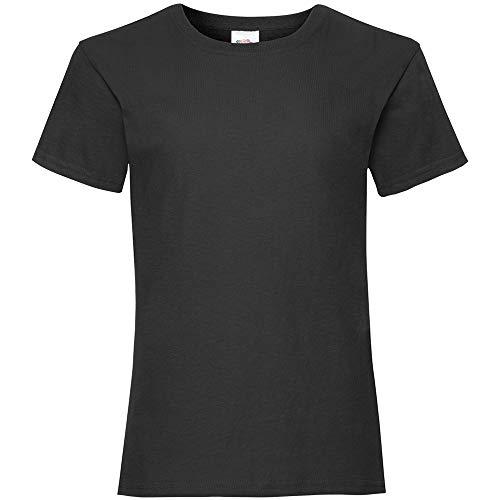 Fruit of the Loom - T-shirt - Fille noir noir 4 ans