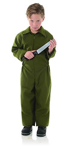 Underwraps - Disfraz infantil de terror para nio grande, color verde oliva, grande