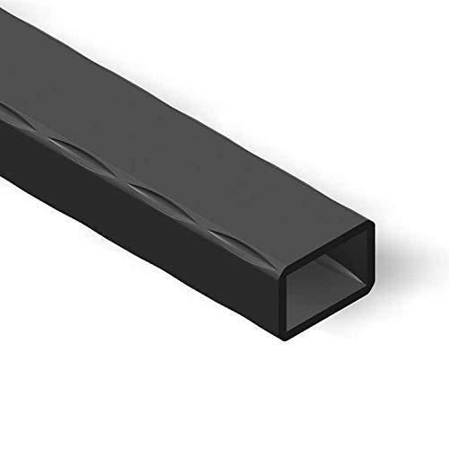 M.P. Metalli - Barre in ferro rettangolare vuoto martellato 40x20 mm spessore 2 mm, per recinzioni, inferriate, cancelli e parapetti. Misura 3 mt / 3000 mm, Made in Italy