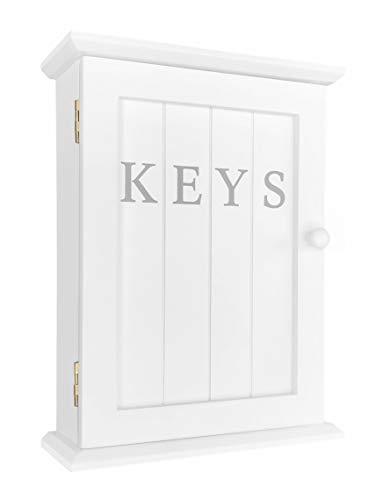 GreyZook - Armario para llaves, color blanco
