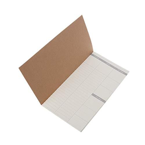 Nuohuilekeji to Do list Notepad list-making planner di lavoro Marker memo notebook desktop Sticky notes 3 white