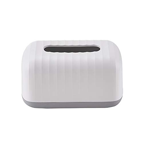 DYW Simple de la Sala dispensadores de Papel higiénico Dormitorio Wave patrón de Caja de Tejidos for la Cocina Sala de Estar y Cuarto de baño Blanco