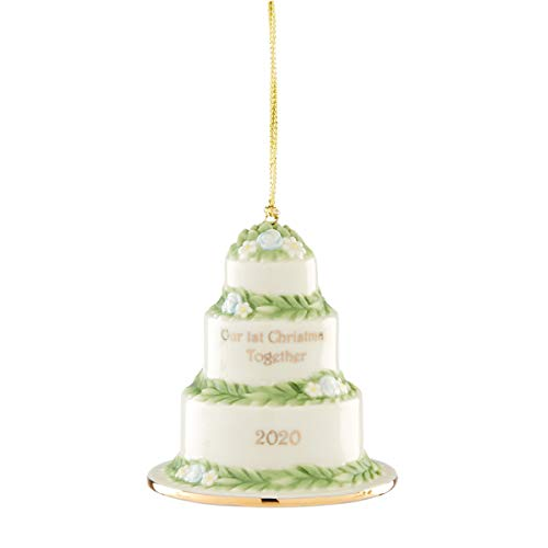 Lenox 2020 Our First Christmas Together Cake Ornament, 0.40 LB, Multi