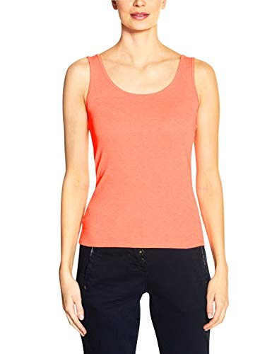 Cecil Damen Linda T-Shirt, neon orange, Large