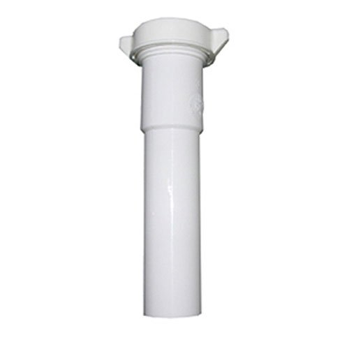 LASCO 03-4325 White Plastic Tubular 1-1/2-Inch by 12-Inch Slip Joint Extension with Nut and Washer