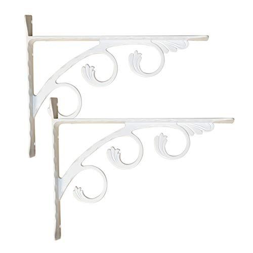 Soportes para estantes Decorativos, Esquina Resistente, Floral Montado en la Pared para Dormitorio/Cocina/Oficina