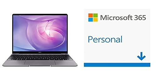 HUAWEI MateBook 13 - Ordenador Portátil Ultrafino de 13' (Ryzen 7, 16GB RAM, 512GB SSD) + Microsoft Office 365 Personal