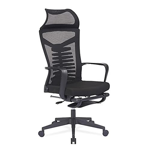ZRJ Silla de oficina de malla transpirable silla de ordenador con soporte lumbar ergonómico silla giratoria para el hogar oficina silla de escritorio