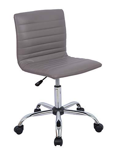 AmazonBasics Modern Adjustable Low Back Armless Ribbed Task Desk Chair Grey BIFMA Certified
