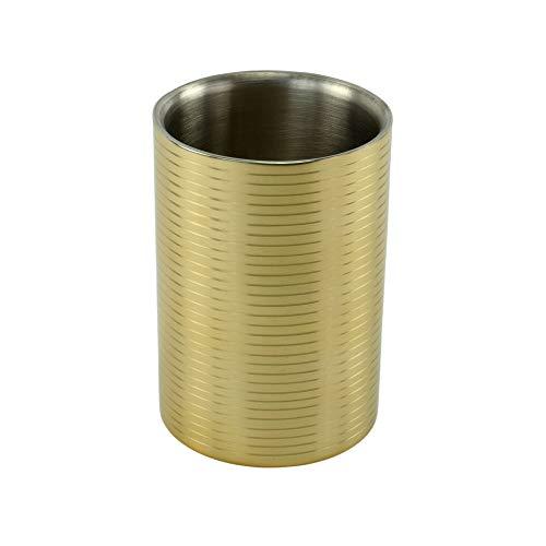 AM Weinkühler Flaschenkühler Sekt-Kühler Sektkübel Champagnerkühler Edelstahl Gold