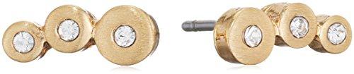 Pilgrim Pendientes de botón Mujer chapado en oro - 611712013