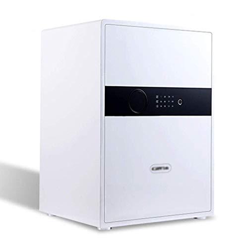 XiYou Caja Fuerte de Seguridad, hogar Inteligente, pequeña Cama antirrobo, Huella Digital, Todo depósito de Armario de Oficina de Acero (Blanco, 38 * 31 * 31,8 cm)