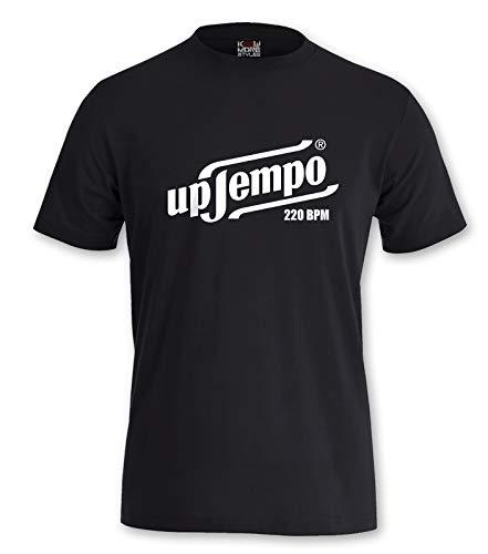 Gabber T-Shirt Uptempo 220 BPM (L, Schwarz)