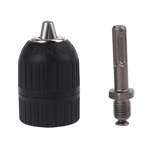 Buwei SDS Plus Vástago a 1/2'20 UNF Adaptador de portabrocas sin Llave Taladro de Impacto Taladro de percusión eléctrico de 3 mordazas 2-13 mm
