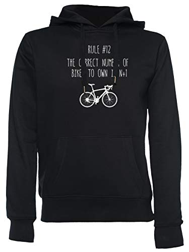 Rule 12 - The Correct Number of Bikes To Own Is N+1 Unisexo Hombre Mujer Sudadera con Capucha Negro Unisex Men's Women's Hoodie Black