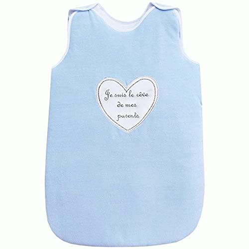 NoSBEBES - Saco de dormir para bebé recién nacido bordado 100% algodón para cuna de bebé, para silla de coche, cochecito de bebé, nido de ángel, idea regalo para nacimiento de bebé (Bulu Reve Gigo)