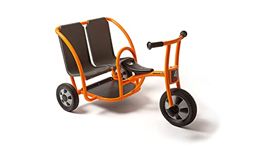 Jakobs aktiv Dreirad Doppeltaxi aktiv / Alter: 4-7 Jahre / Breite: 71 cm, Länge: 103 cm, Höhe: 63,5 cm / Sitzhöhe 35 cm