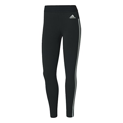 adidas Damen Tights Essentials 3-Stripes, Black/White, S, BS4820