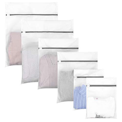 Hivool Mesh Waszak Set van 6 (2XL&2L &2M) Mesh Laundry Bags Wasmachine Speciale Anti-vervorming Anti-haak Herbruikbare Duurzame Waszak voor Delicate Blouse, Gebreide Kleding, Zijde, Babykleding.