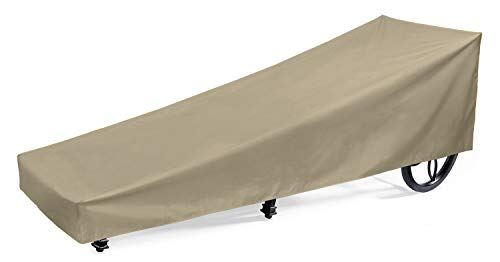 """SunPatio Outdoor Chaise Lounge Cover, Patio Chaise Cover 84""""L x 30""""W x 24""""H, Heavy Duty Waterproof Beach Chair Cover with Seam Taped, Helpful Air Vents, All Weather Protection, Neutral Taupe"""