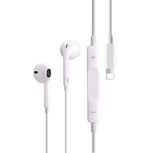 LT-xx1 Auriculares para iPhone,Auriculares con Control de Volumen,Compatible con iPhone 7/7 Plus/8/8 Plus/X/XS Max/XR/XS/11/11 Pro/iPad/iPod Soporta Todo el Sistema iOS