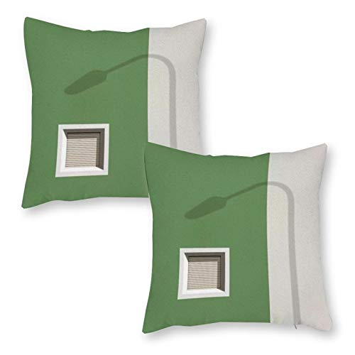 DKE&YMQ Fundas de almohada de felpa 2, verde pared gris rectangular herramienta de pintura para utensilios de cocina, 45,7 x 45,7 cm