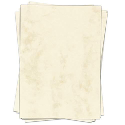 50 Blatt Briefpapier (A4) | Marmor Beige | Motivpapier | edles Design Papier | beidseitig bedruckt | Bastelpapier | 90 g/m²