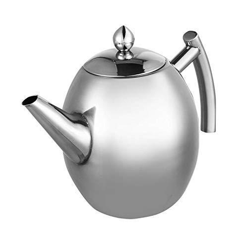 Edelstahl Teekanne Kaffeekanne Wasserkocher Mit Filter Großes Fassungsvermögen (Farbe: 1,5 L) B.